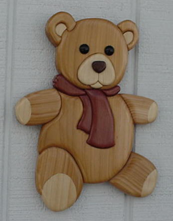 Saw Used To Cut Wood Wooden Teddy Bear Intarsia