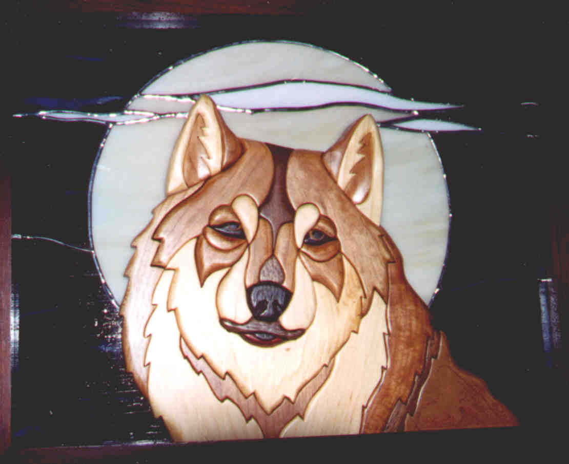 Wolf Stained Glass Windows Patterns